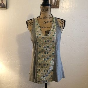 Porridge (Anthropologie) racerback blouse, small